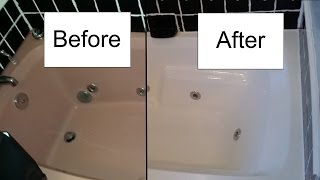 getlinkyoutube.com-How to refinish a bathtub with Rustoleum Tub and Tile kit