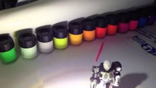 getlinkyoutube.com-Fun glow in the dark phosphorescent acrylic hobby paints!
