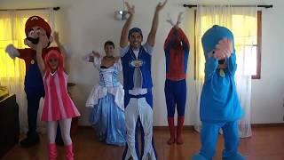 getlinkyoutube.com-POLLITO PíO  Pocoyo spiderman lazzy town mario bross www.renos.cl
