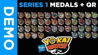 [4K] All SERIES 1 Yo-Kai Medals | Extras & QR Codes + GIVEAWAY