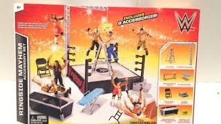 getlinkyoutube.com-WWE ACTION INSIDER: Ringside MAYHEM Mattel Wrestling Figure PLAYSET Review!