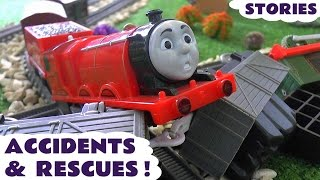 getlinkyoutube.com-Thomas and Friends Toy Trains Accidents & Play Doh Digging Rigs Rescues - Family Friendly Fun TT4u