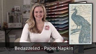 getlinkyoutube.com-Bedazzeled Paper Napkin