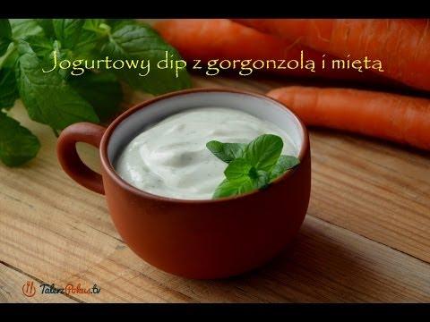 Jogurtowy dip z gorgonzolą i miętą