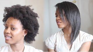 getlinkyoutube.com-HOW TO: Straighten 4C Natural Hair Tutorial (No Blow Dryer Needed)