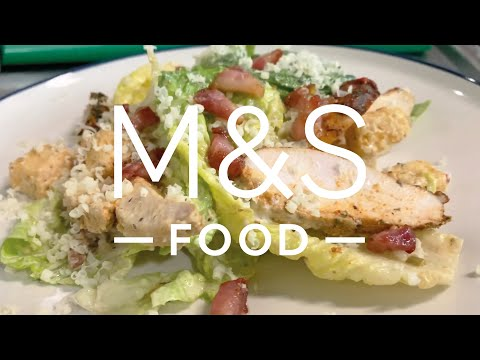 Cook With...M&S Cajun chicken and bacon Caesar salad | M&S Food