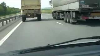 Speeding Truck doing 160 km/h - 99 miles/h in a Highway