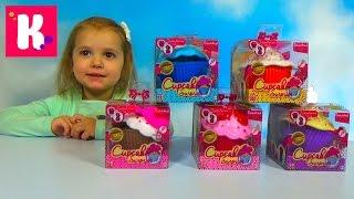 getlinkyoutube.com-Ароматные капкейки куклы сюрприз распаковка игрушек Cupcake Surprise doll unboxing