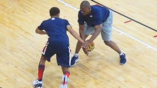 getlinkyoutube.com-Steph Curry SHOWS Out At USA Practice With KD, LeBron, Westbrook, Etc!