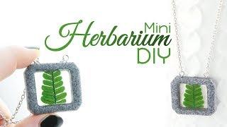 Mini Herbarium DIY | Echte Pflanzen & Resin & FIMO® | Gießharz Schmuck Anleitung | Farn Halskette width=