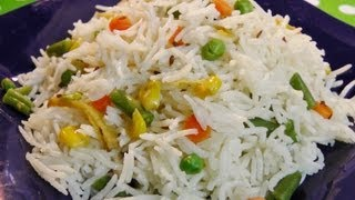 getlinkyoutube.com-White Veg Pulao