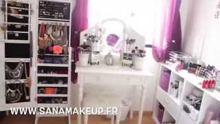 getlinkyoutube.com-Room Tour & Mes rangements Make-Up - makeup Collection⎮SANAMAKEUP