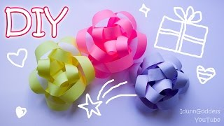 getlinkyoutube.com-How To Make A Gift Bow Out Of Printer Paper - DIY Paper Gift Bow