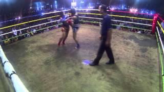 getlinkyoutube.com-Phetjee Jaa O. Meekhun vs Buakaw Lookboonmee - Feb 15, 2015