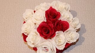 getlinkyoutube.com-Букет из конфет - Букет роз из конфет