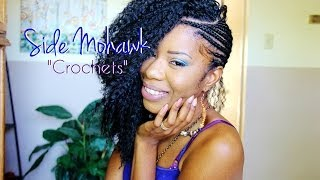 getlinkyoutube.com-Side Mohawk PART 2: Crocheting & Cutting Hair