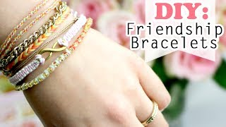 getlinkyoutube.com-DIY: 4 Ways how to make Easy Friendship Bracelets