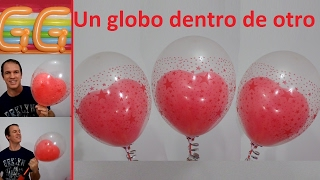 getlinkyoutube.com-como inflar un globo dentro de otro - globoflexia facil - meter un globo dentro de otro