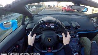 getlinkyoutube.com-YOU Drive the Lamborghini Huracan Spyder FAST! - POV Test Drive