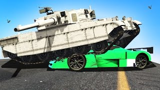 getlinkyoutube.com-EXTREME TANKS vs CARS! (GTA 5 Funny Moments)