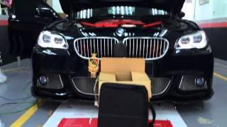 getlinkyoutube.com-BMW F10 PreLCI: ALH Adaptive LED Headlights Retrofit by EleBest