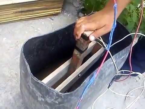 maquina de soldar casera (agua y sal)