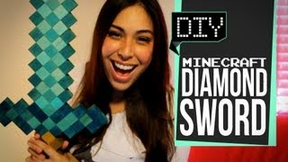 getlinkyoutube.com-Minecraft Diamond Sword - DIY GG