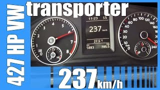 getlinkyoutube.com-427 HP VW Transporter 2.5 TFSI MTM TUNED! FAST! 237 km/h Acceleration