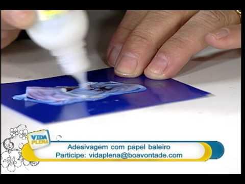 Artesanato - Técnica de adesivagem