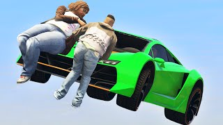 getlinkyoutube.com-FLYING CARS vs. RUNNERS! (GTA 5 Funny Moments)