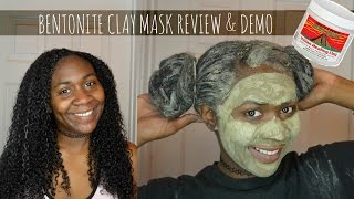 getlinkyoutube.com-BENTONITE CLAY MASK ON NATURAL HAIR & FACE : DEMO & REVIEW