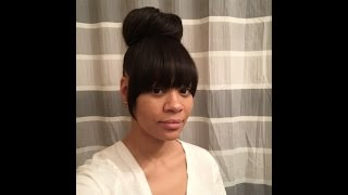 Faux Bangs with Bun