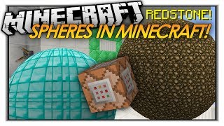 getlinkyoutube.com-HOW TO MAKE SPHERES IN VANILLA MINECRAFT! 1.8 Minecraft Redstone Trick