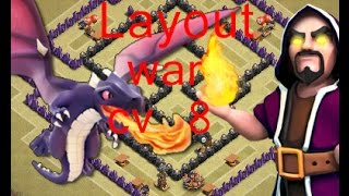 getlinkyoutube.com-Layout  war cv 8-(Anti dg,Anti gowipe e anti corredor+replays)