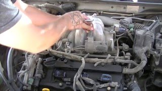 getlinkyoutube.com-2002 Nissan Maxima: How to replace spark plugs, ignition coils and air intake gasket