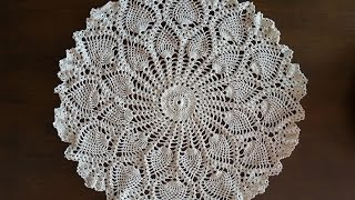 Crochet Doily - Rounded Pineapples Doily Part 1