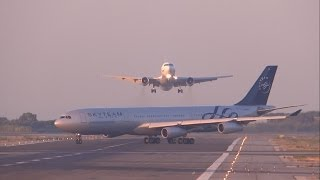 getlinkyoutube.com-[FULL HD] UTair Aviation 767-300 NEAR MISS? GO AROUND at Barcelona-El Prat