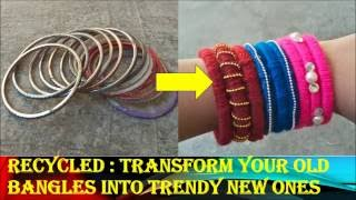getlinkyoutube.com-Recycled :: Transform your old bangles into trendy new ones :)