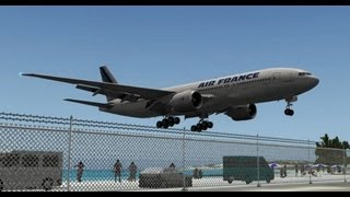 getlinkyoutube.com-Air France B777 @ St. Maarten X-Plane 10