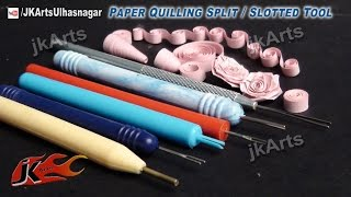 getlinkyoutube.com-HOW TO: Use Paper Quilling Split / Slotted Tool - JK Arts 459