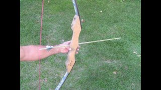 How to make a VERY POWERFUL BOW using Old Skis / Homemade DIY