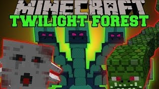 getlinkyoutube.com-Minecraft: TWILIGHT FOREST MOD (DIMENSION, EPIC BOSSES AND STRUCTURES!) Mod Showcase