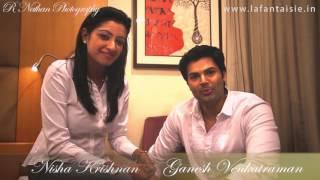 getlinkyoutube.com-Ganesh Venkatraman and Nisha Krishnan Praising La Fantaisie Gowns