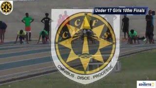 CCFS Girls Under 17 100 Metre finals