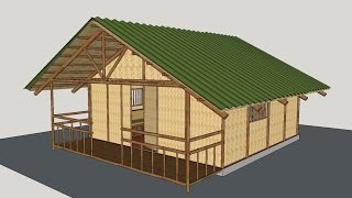 getlinkyoutube.com-Making a Bamboo House