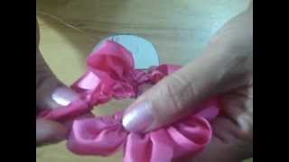 tutorial flor de liston de gasa1