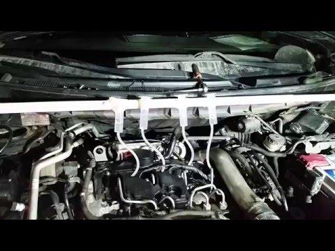 Тест на обратку форсунок дизельного Nissan X-Trail 2008г.в.