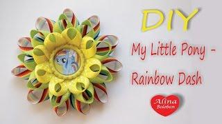 "getlinkyoutube.com-Бант Радужная Деш "" Рейнбоу Деш "" / How to Create a Bow Rainbow Dash"