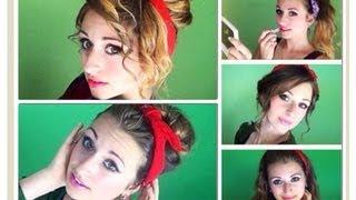 getlinkyoutube.com-13 Cute & Easy Bandana Hairstyles!