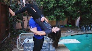 getlinkyoutube.com-Behind The Scenes & FAILS! (WWE Moves On Girls)